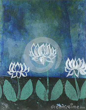 Abstract Lotus Blossoms