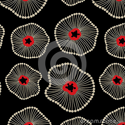 Free Abstract Lotus Floral Seamless Pattern Royalty Free Stock Photos - 57065328