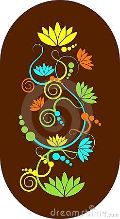 Abstract lotus swirls