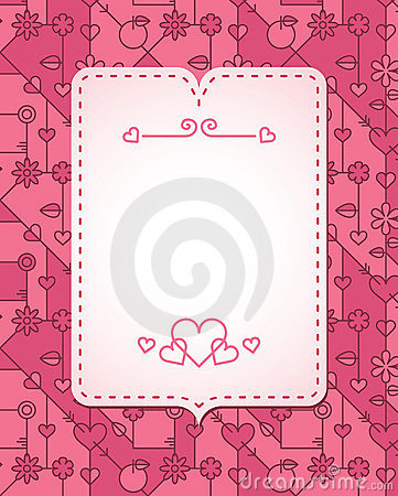 Abstract love banner