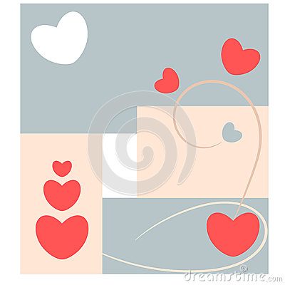 Abstract love and heart