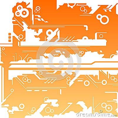 Abstract machine maze background