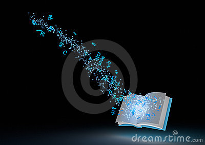 Abstract magical book