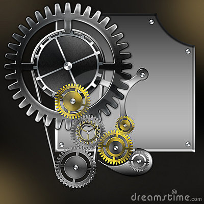 Abstract mechanism with gears