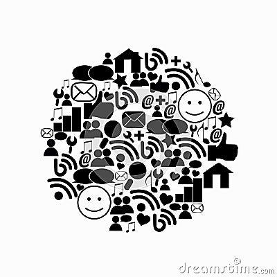 Abstract media circle