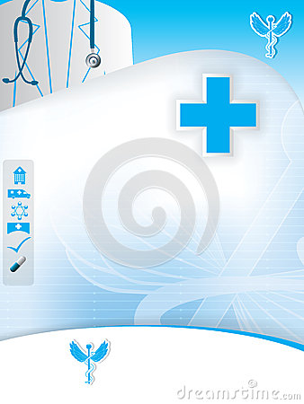 Abstract medical design template