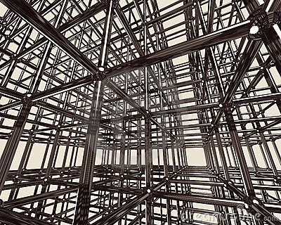 Abstract Metal Construction
