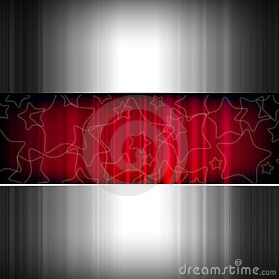 Abstract metal stars background, metallic and red.