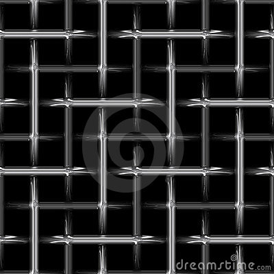 Abstract metal steel weave