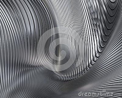Abstract metallic architectural wallpaper