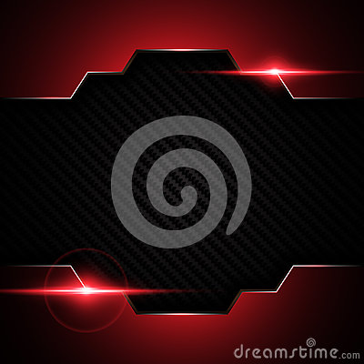 Free Abstract Metallic Black Red Frame On Carbon Kevlar Texture Pattern Tech Sports Innovation Concept Background Stock Photography - 75448002