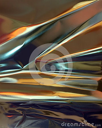 Abstract metallic paper