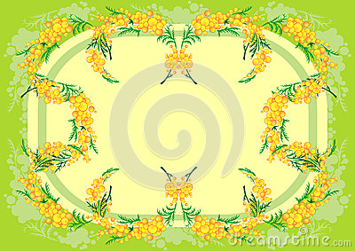 Abstract mimosa frame