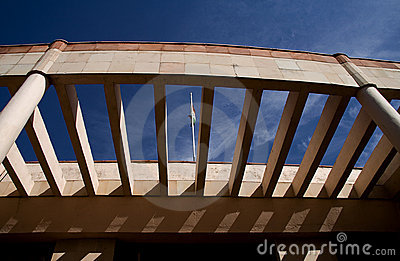 Abstract Modern Architecture and Indian Flag