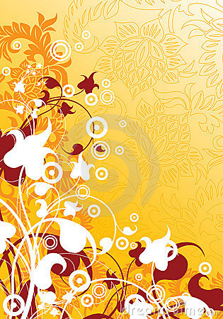 Free Abstract Modern Background With Floral Elements, Vector Illustra Royalty Free Stock Photography - 1925497