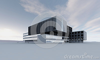 Abstract modern building