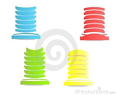 Abstract modern buildings, cdr vector