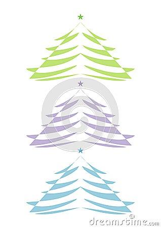 Abstract modern christmas tree graphics
