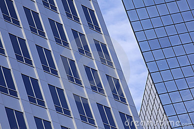 Abstract of Modern Glass Office Building