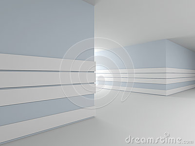 Abstract modern interior. 3D.