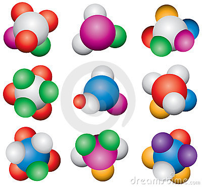 Abstract molecules Vector Illustration