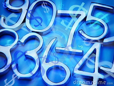 Abstract Money and Numbers Background