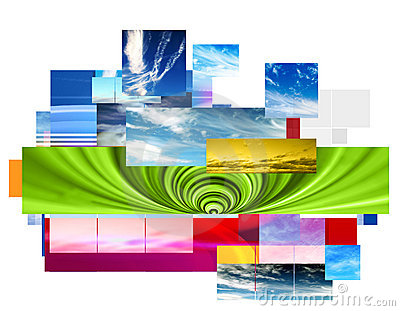Abstract montage design
