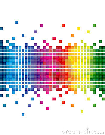 Abstract mosaic color pixels