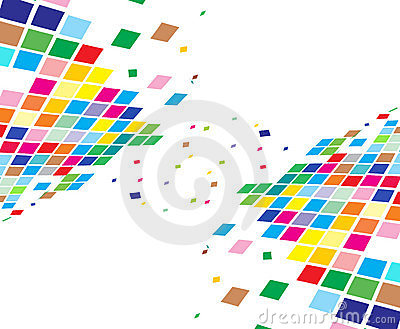 Abstract mosaic composition
