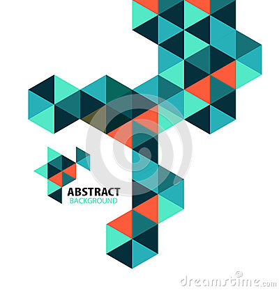 Free Abstract Mosaic Geometric Shapes Isolated Royalty Free Stock Photos - 37110418