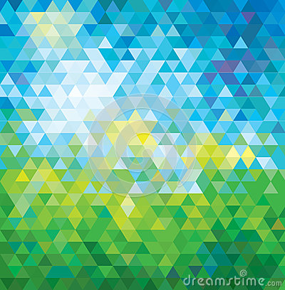 ABSTRACT MOSAIC SUMMER BACKGROUND.