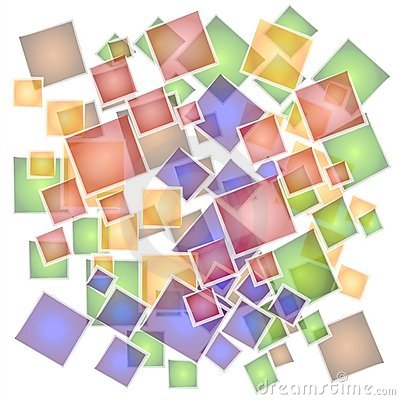 Abstract Mosaic Tiles Pattern