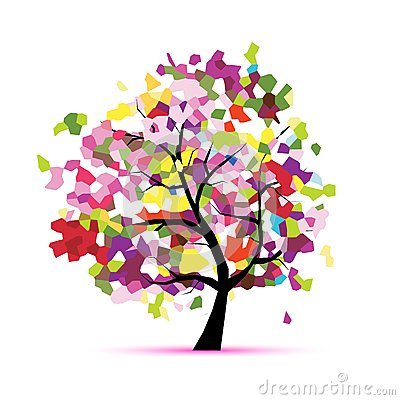 Free Abstract Mosaic Tree For Your Design Stock Photo - 36893420