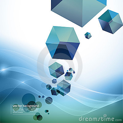Abstract motion background - cubes