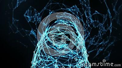 Abstract Motion Background - Digital Binary Plexus Funnel Loop stock video