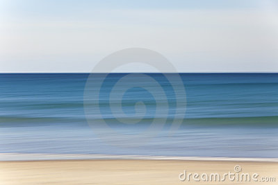 Abstract Motion Blur Beach and Sea Background