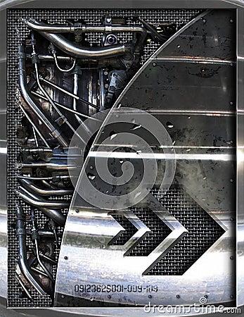 Abstract motor parts