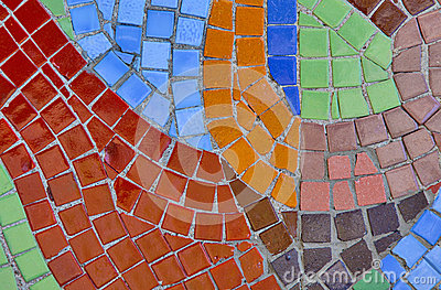 Abstract multi color mosaic bacground