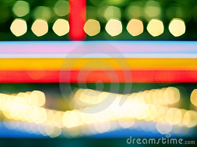 Abstract multi-colored bokeh photography