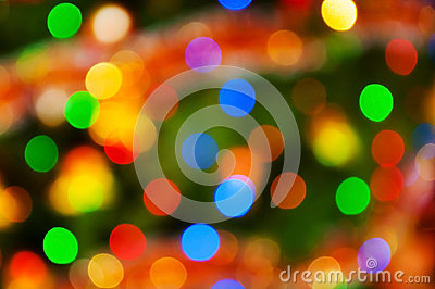 Abstract multicolor lights background