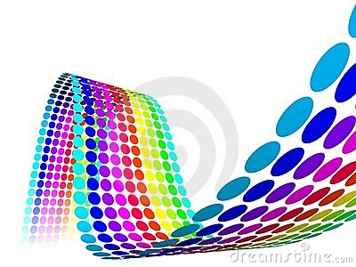 Abstract Multicolor Rainbow