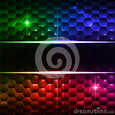 Free Abstract Multicolored Hexagons Background With Text Space Stock Photo - 29697080