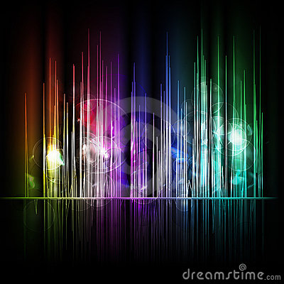 Abstract multicolored lines background