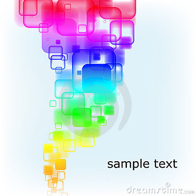 Abstract multicolored rounded squares background