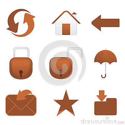 Abstract multiple mail icon