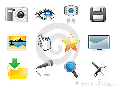 Abstract multiple media icon