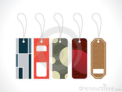 Abstract multiple tags design template