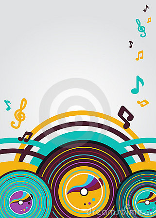 Free Abstract Music Background Royalty Free Stock Photos - 18722848