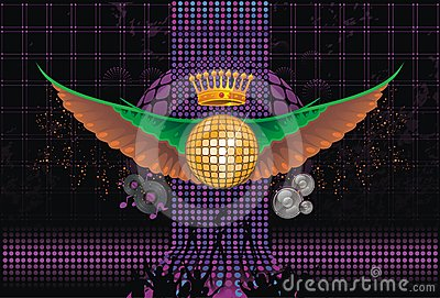 Abstract; music; background; wings; club