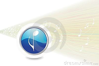 Abstract  music icon background,